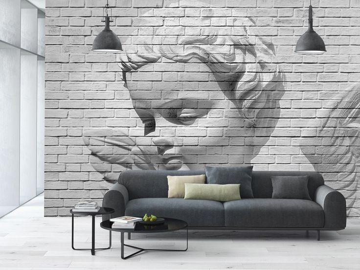 Wall Mural Angel Brick Wall Wall Murals / Photomurals Wall Murals 8-part