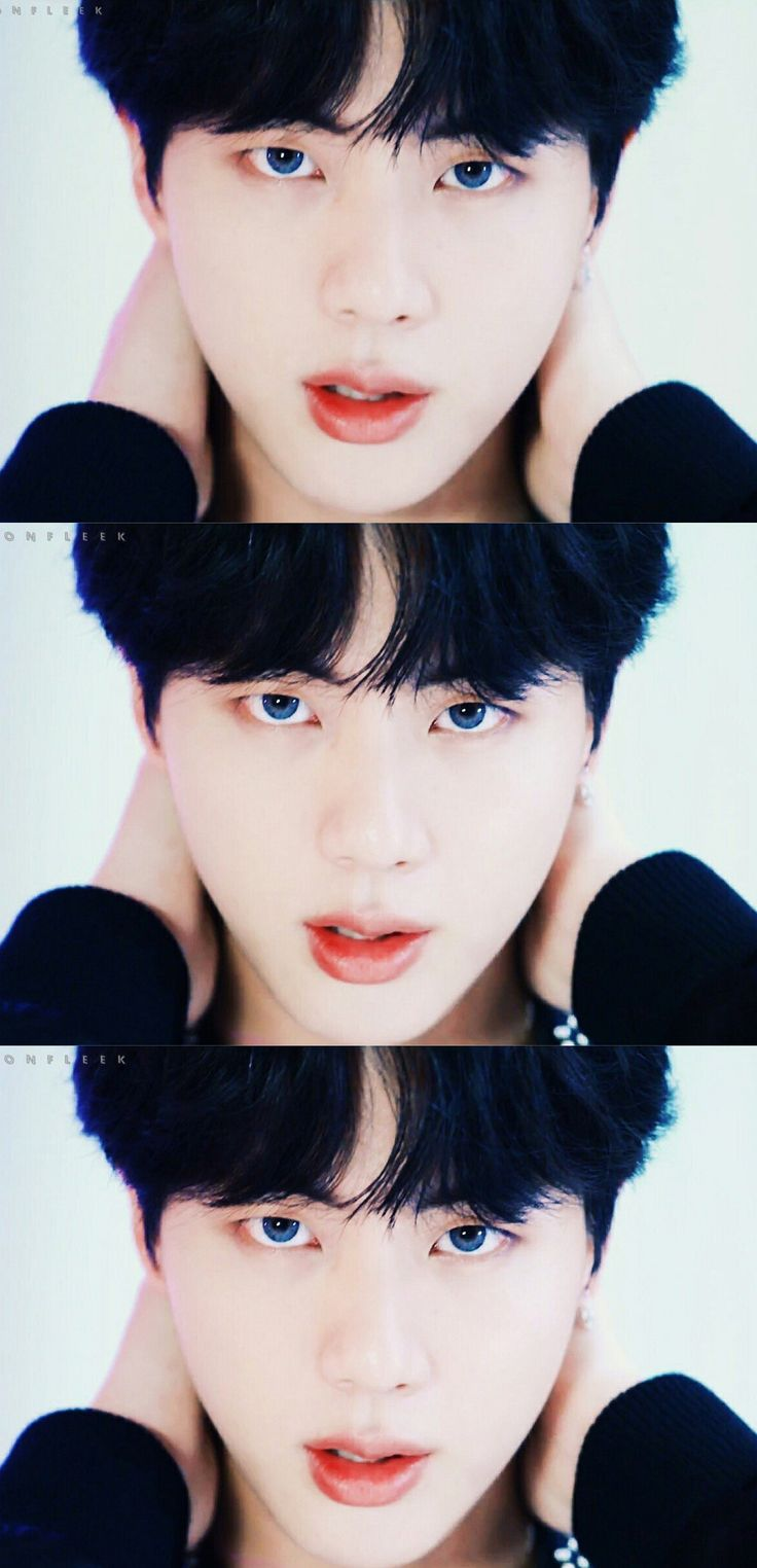 I really wish BigHit would stop making them ware colored eye contacts, (i don't know for a fact if they are making them or not) I love there natural eye color so very much. Coming from someone who stares at peoples eyes 24/7 a day.
