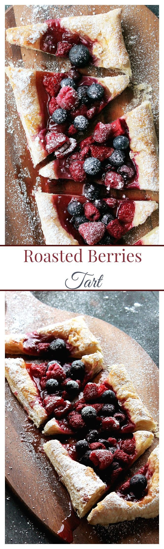 Roasted Berries Tart | www.diethood.com | This Roasted Berries Tart, made with puff pastry and fresh berries, is sweet, tart, impressive, and best of all, quick and easy! | #valentines_day #dessert