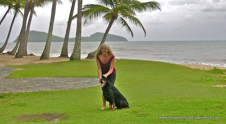 Pet sitting is a great part of the house sitting experience! This sweet dog, a doberman who was so well trained and lovable made our house sit at this beautiful tropical paradise near Cairns and the Great Barrier Reef such a memorable house sit / pet sit!