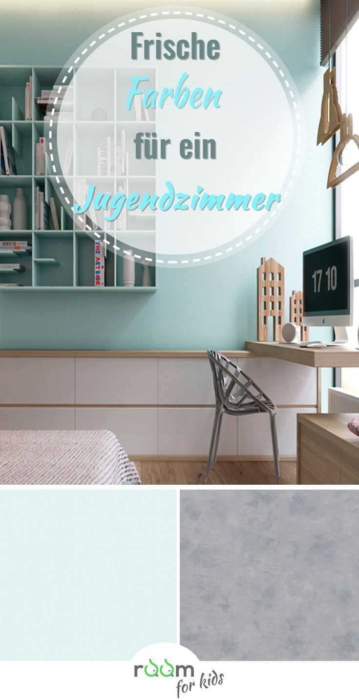 Ein Jugendzimmer Für Mädchen In Frischen Farben Gestaltet Kinder Zimmer Jugendzimmer Kinderzimmer Farbe