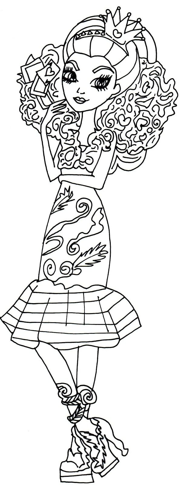 Coloring page queen of hearts - Coloring Page Queen Of Hearts
