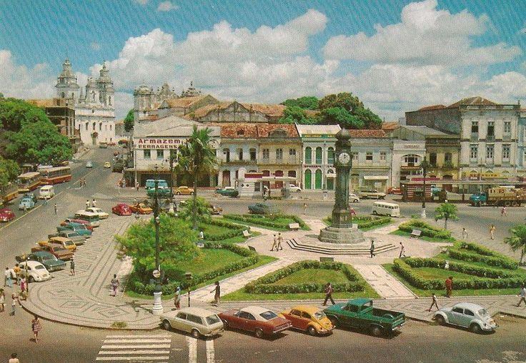 Praça do Relógio, década de 70. Belém do Pará, Brasil.