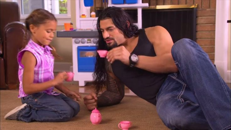 Commercial with WWE's Roman Reigns as a Dad. This video is the cutest thing ever! :)