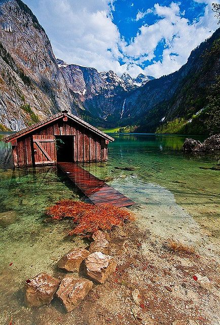 Boat house Obersee, Germany - OMG this has been my computer background for 2 years, and I have never been able to find the picture again until now!