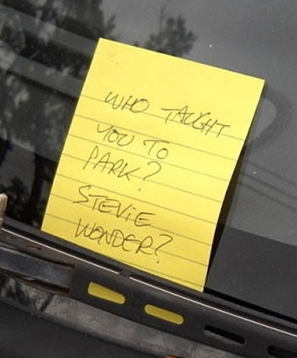 Findin this note on your car! bahaha