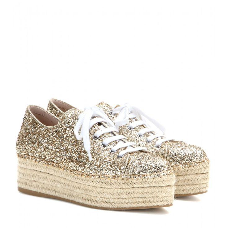 mytheresa.com - Espadrilles à plateformes à paillettes - Espadrilles - Chaussures - Miu Miu - Luxe et Mode pour femme - Vêtements, chaussures et sacs de créateurs internationaux