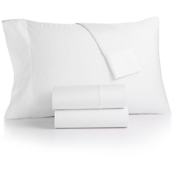 Bainbridge 4-Pc Extra-Deep Queen Sheet Set, 1400 Thread Count, ($220) ❤ liked on Polyvore featuring home, bed & bath, bedding, bed sheets, white, white queen sheet set, white queen bedding, white bed linen, queen sheet sets and queen bed sheet set