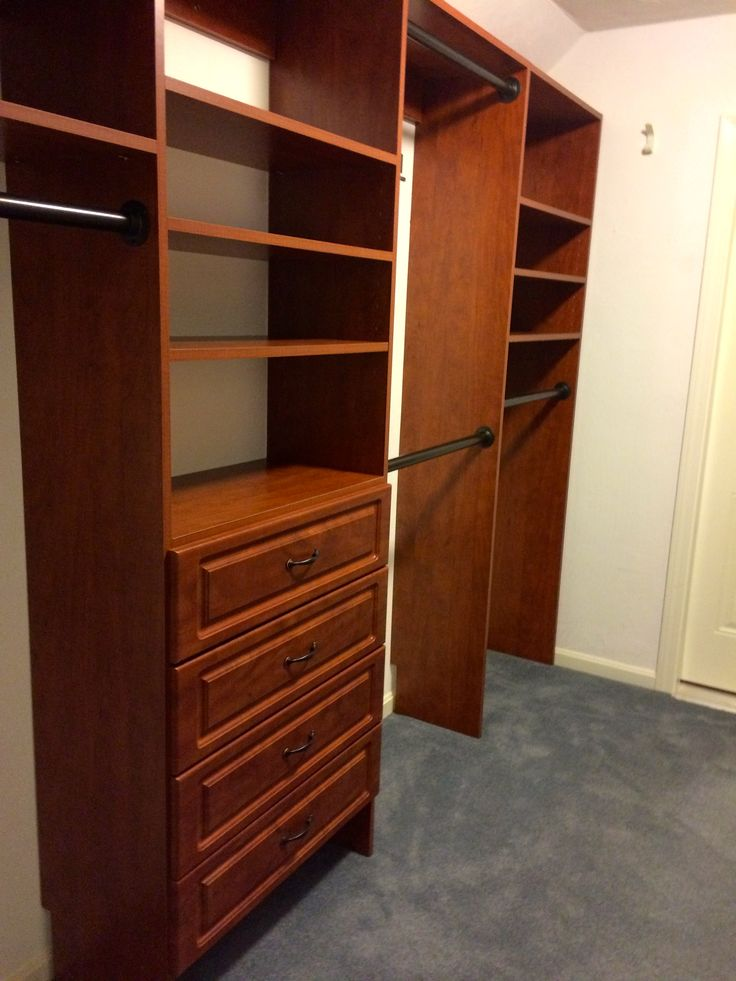 Beautiful Closet Cabinets with Drawers