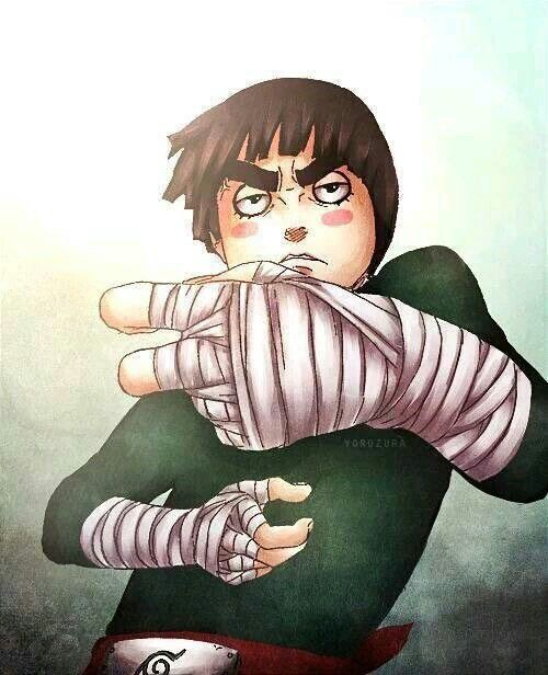 Rock Lee drunk; Naruto