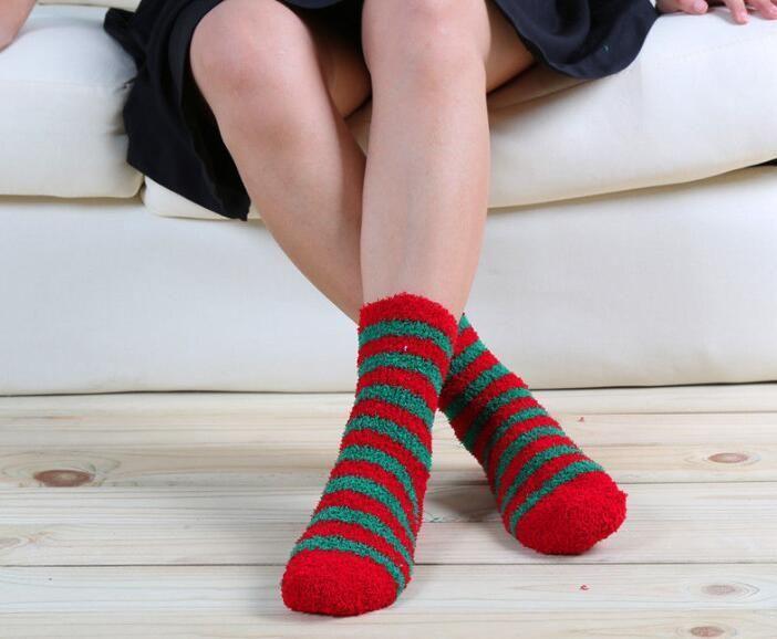 Christmas Socks Womens Men Unisex Soft Fluffy Lounge Cosy Socks Winter Warm Gift