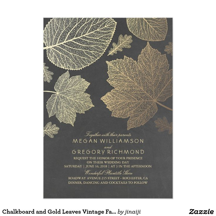 451 best fall wedding invitations images on pinterest fall wedding gold leaves vintage rustic fall wedding invitation stopboris Images