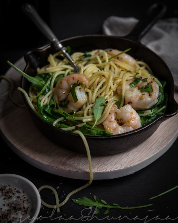 Rapupasta aglio et olio et peperoncino