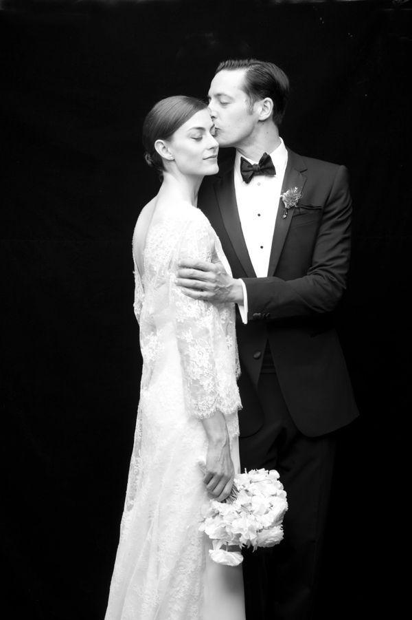 Mr. & Mrs. Hannah - Carolina Herrera Bride wearing the 'Carolina' dress