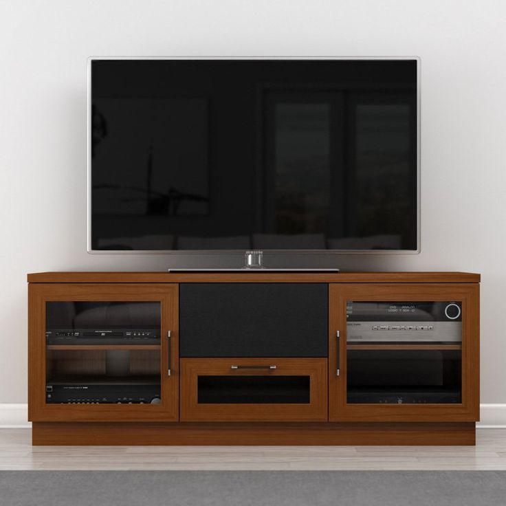 Furnitech Contemporary 60 Inch TV Stand - FT60CC-WENGE
