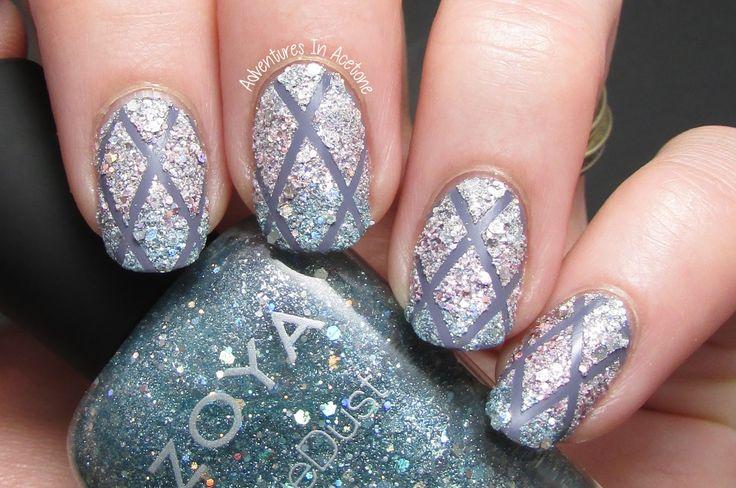 Zoya Magical Pixies Nail Art: Crisscross Texture Gradient Revisited! - Adventures In Acetone