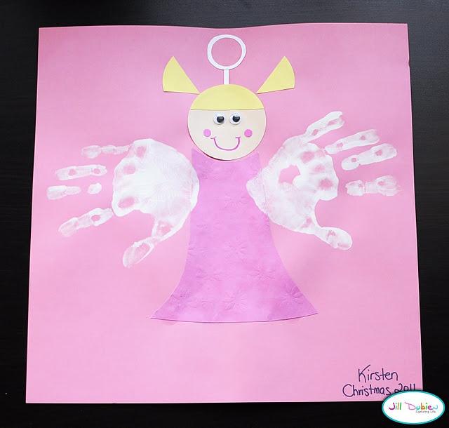 Love this handprint angel craft for kids!