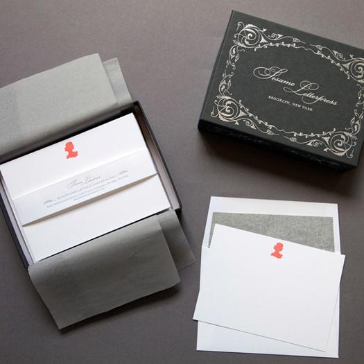letterpress deluxe stationery sets from Sesame Letterpress via Matchbook Mag