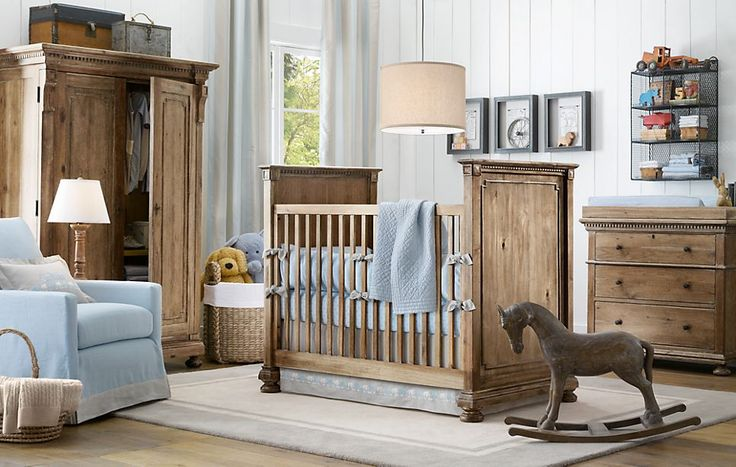 The finish on this crib.  Rustic, natural, elegant...all in one gorgeous expensive crib.