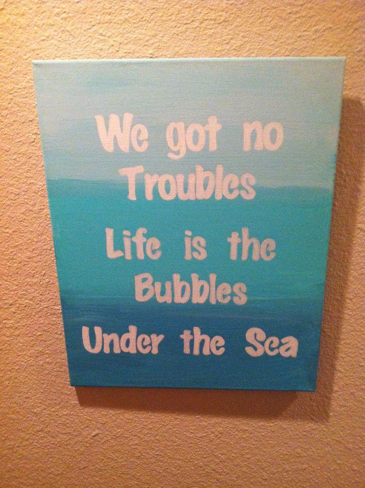Under water theme nursery art I made for Haisley @chelseabuol ! Little mermaid quotes :)