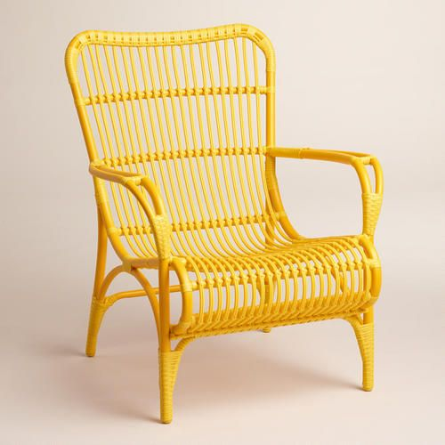 One of my favorite discoveries at WorldMarket.com: Yellow Hanalei Occasional Chairs, Set of 2 $360.00