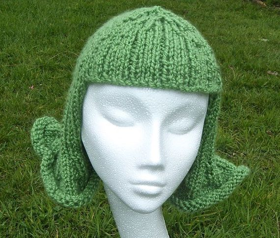Fun and Funky  Hat Wig Chemo Cap. A knitting by WildDaffodil