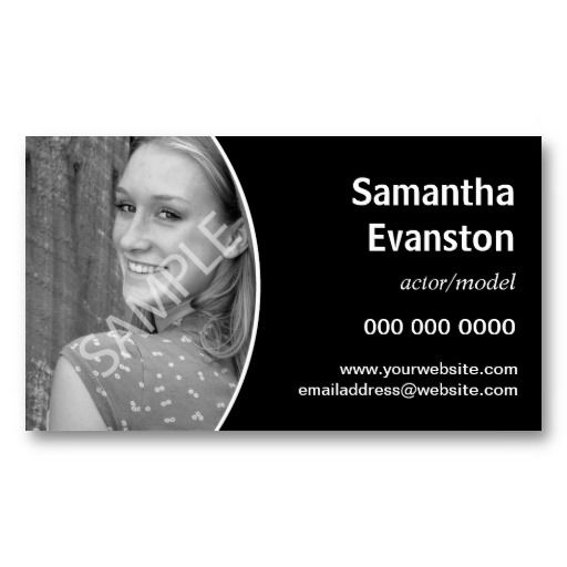 18 best business cards for actors images on pinterest business cards carte de visite and. Black Bedroom Furniture Sets. Home Design Ideas