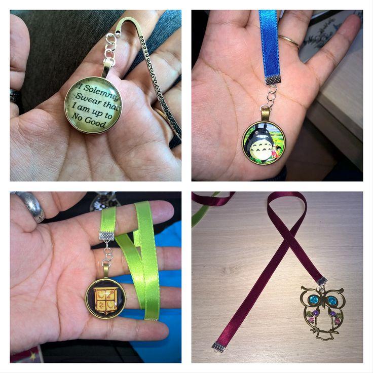 Marque page ruban et bijoux  #bookmark #marquepage #marquespages #MP #rubans…