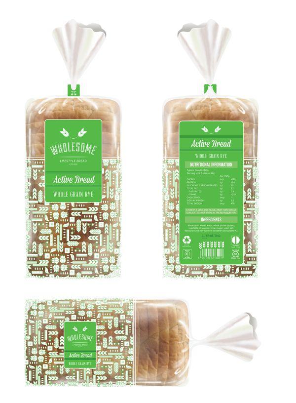 Bread Bag Design by Belinda Bantjes, via Behance