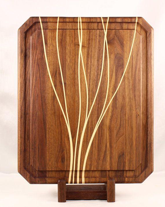 walnut u0026 maple butcher block cutting board by