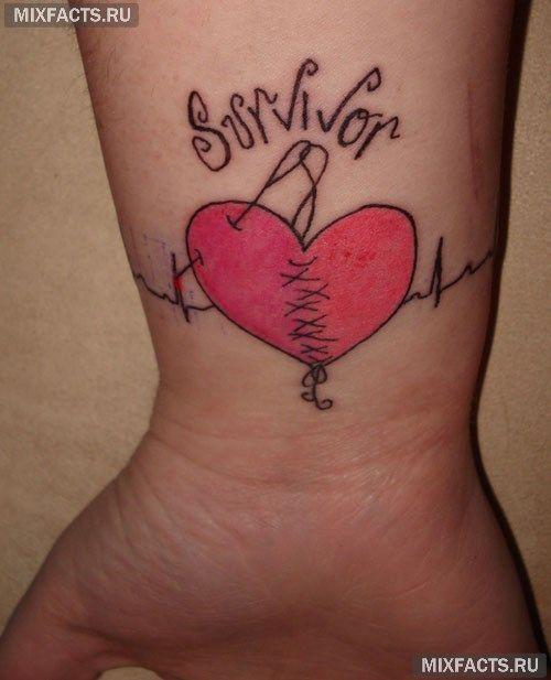 татуировки браслетом разбитое сердце