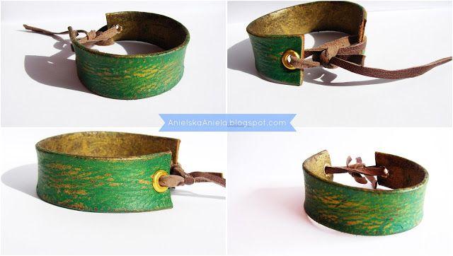 diy tutorial leather retro bracelet skórzana postarzana bransoletka diy