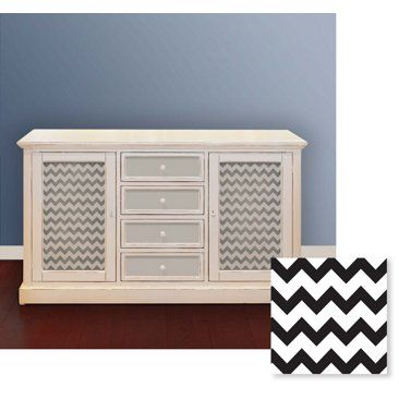Check out this item at One Kings Lane! Chevron Furniture Stencil, Small