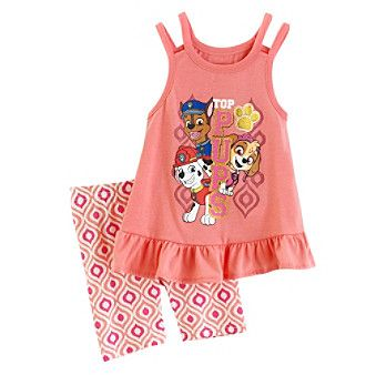Nickelodeon® Girls' 2T-4T Paw Patrol Top And Shorts Set