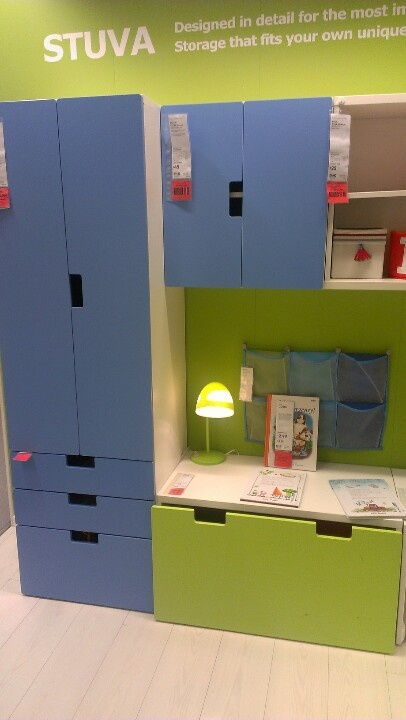 Stuva storage at ikea. great customizable pieces.