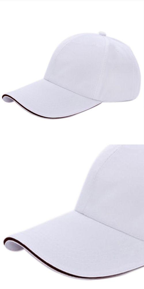 IMC Plain Baseball Cap Mens Ladies Adult Hat Summer-White