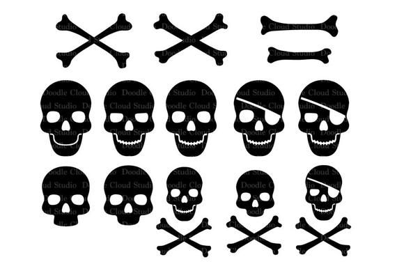 Skull And Cross Bones Svg Files For Silhouette Cameo And Etsy Svg Cross Bones Pirate Flag