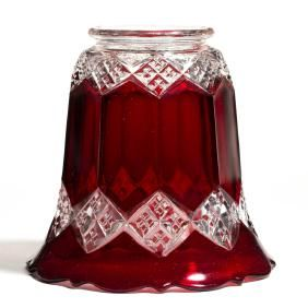 Lot: IMPERIAL NO. 1 / THREE-IN-ONE - RUBY-STAINED GAS /, Lot Number: 0409, Starting Bid: $40, Auctioneer: Jeffrey S. Evans & Associates, Auction: Two-Day 19th & 20th C Glass & Lighting: Day 1, Date: July 28th, 2017 EDT