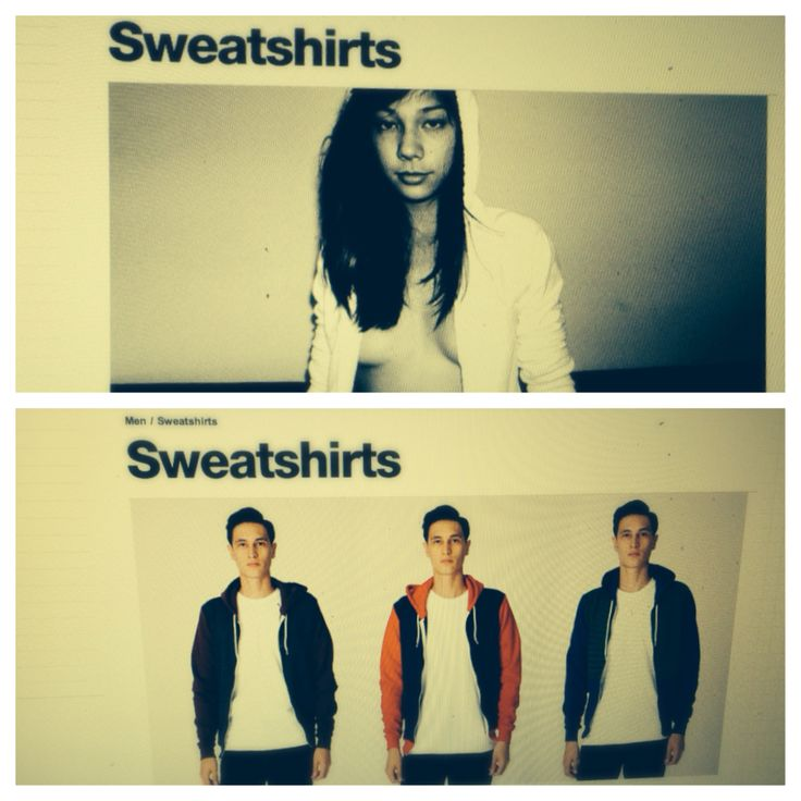 I was online shopping, and American Apparel always has very ...