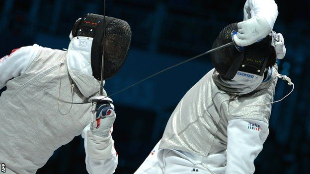 Japan vs Italy, men's team foil, gold medal match. Sorry, I don't know who this is or who thephotographer was, but it came from this site: http://www.bbc.co.uk/sport/0/olympics/18907906: Instagram, Fencing Modern, Fencing Scherma Esgrima, Fencer Photos, Fencing Photos