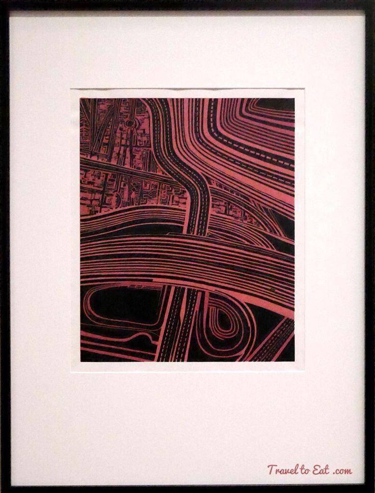 Motorways by Robert Ellis, 1969. Auckland Art Gallery, New Zealand