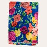 Redcurrent Royal Doublesided Floral Scarf