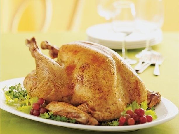 BRINED WHOLE TURKEY *Large clean bucket or stockpot (noncorrosive) and large shallow roasting pan. http://www.bettycrocker.com/recipes/brined-whole-turkey/db56ea6f-f484-439c-9e6d-90bd11d30042