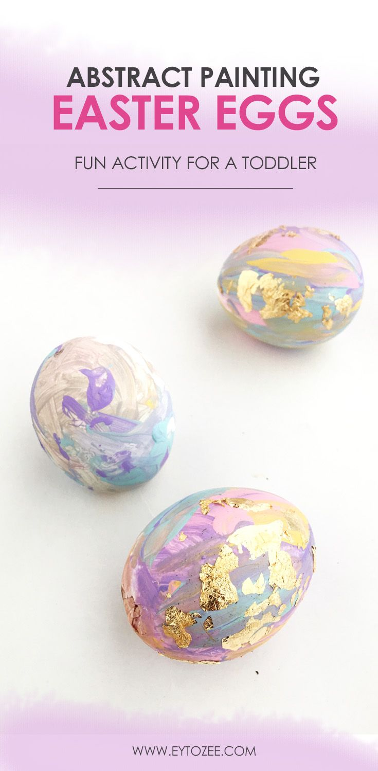 Give kids paints and eggs and surely they'll create an abstract painting Easter eggs that you will adore.