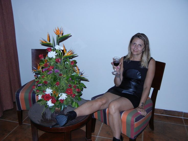 flowers and red wine what else?