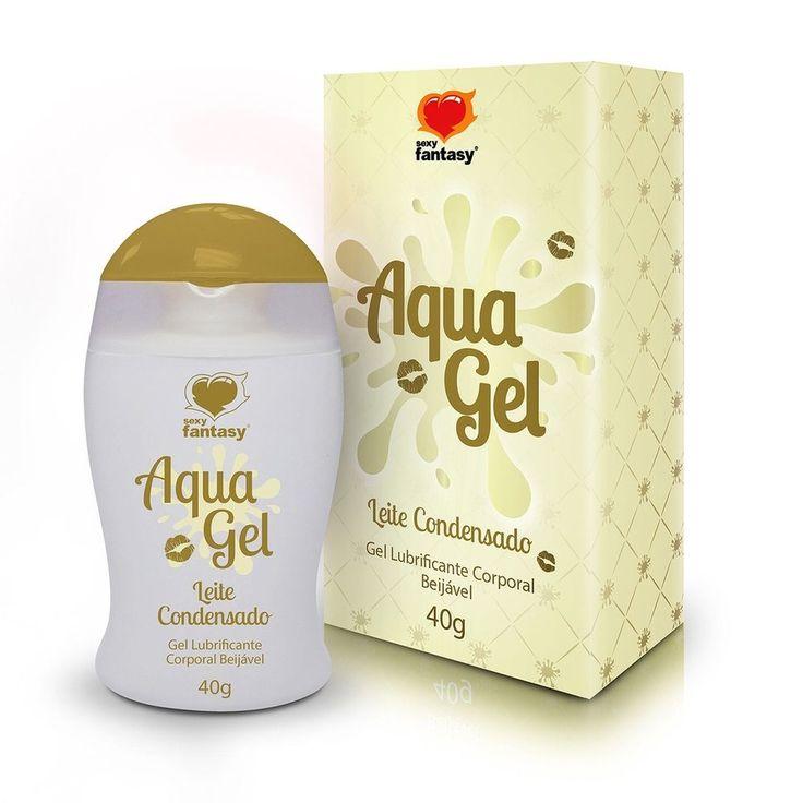 Gel Lubrificante Beijável Leite Condensado AquaGel  - 40g