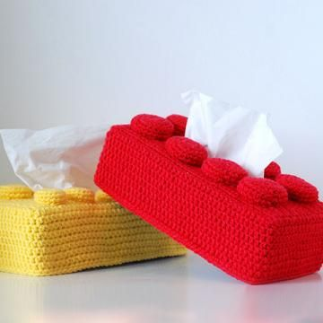 Lego tissue box crochet pattern