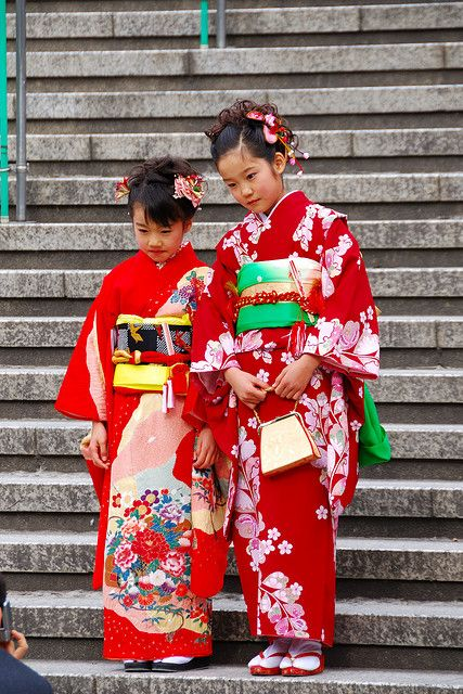 These two young Japanese girls were going with their parents to the Osu Kannon temple in Nagoya. | by EugeniusD80