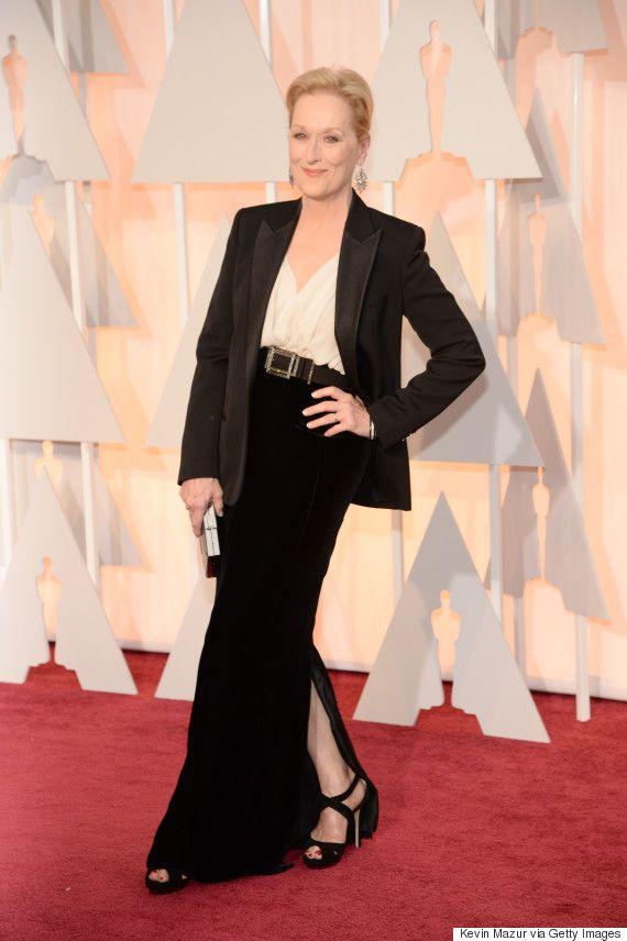 Meryl Streep rocks a sleek black blazer at the Oscars