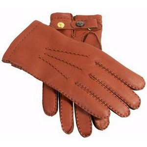 Dents Gloves - Hiway Tan Handsewn Cashmere Lined Leather Gloves by Dents
